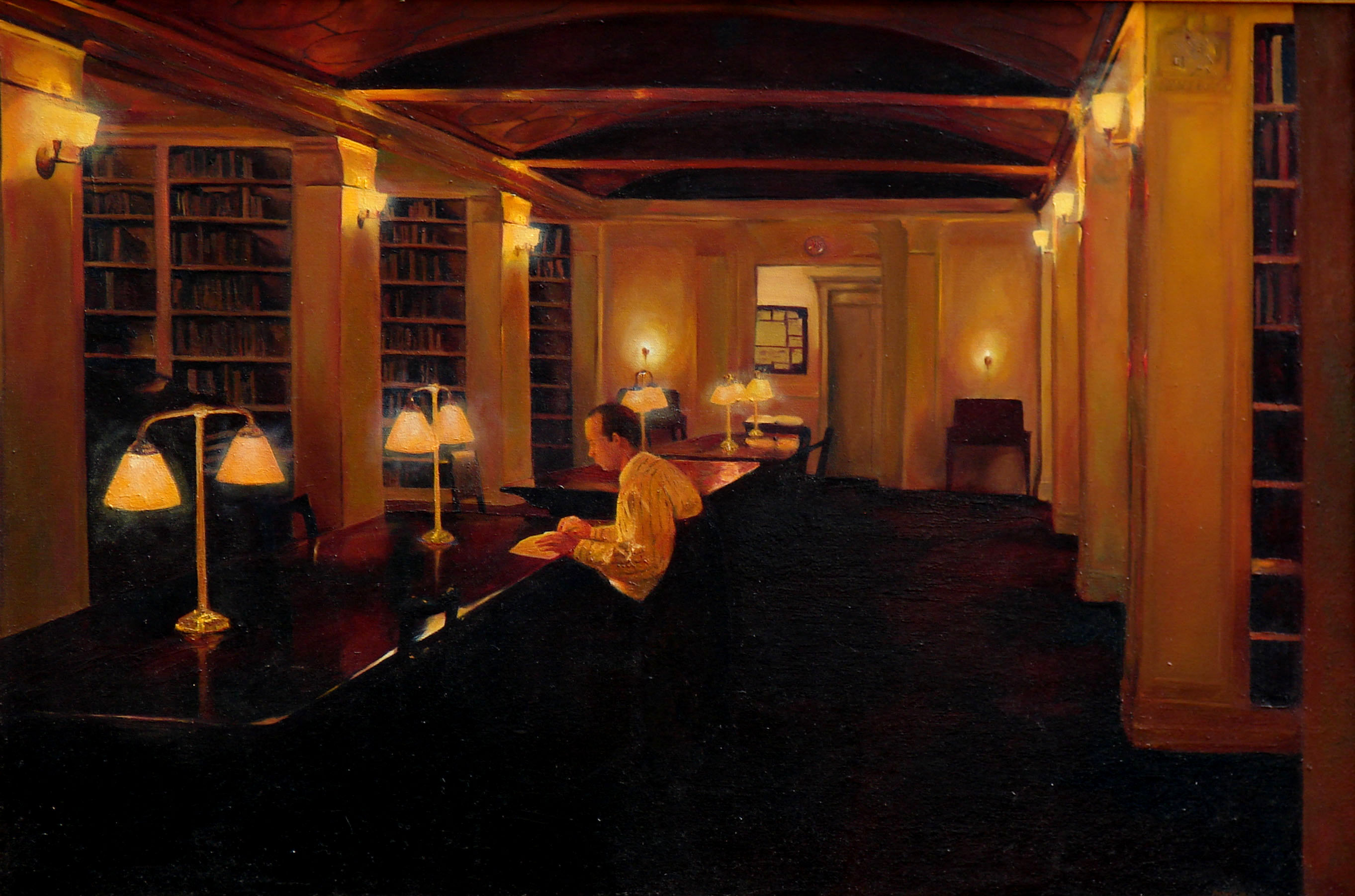 Yale Library, Oil, 24x36