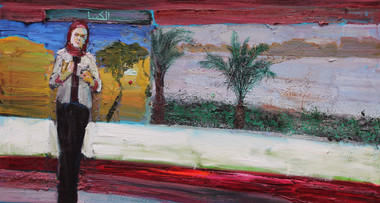 12/13/2013, Egypt: Cairo Snow Oil on Canvas, 24 x 42