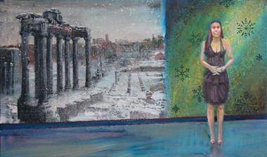 2/7/2012, Italy: Nevicata Oil on Canvas, 24 x 40