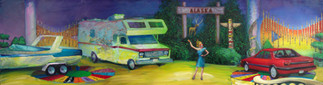 See the sights of America in style in this new Winnebago!  Oil on Canvas, 24 x 36