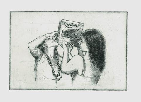 Pre-Game Etching, 6x9
