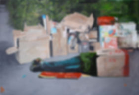 Markus Boesch - Home Delivery 90 cm x 130 cm Oil on Canvas