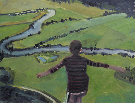 Markus Boesch / There is a time you are a child and there is a time when you are grown up - 30 cm x 39 cm Oil on Canvas