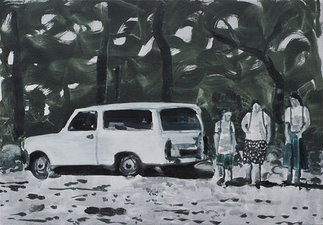 Markus Boesch - Vacation in the scrub - 30 cm x 43 cm Oil on Canvas