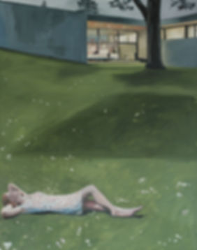 Markus Boesch - After a long day 110 cm x 140 cm Oil on Canvas