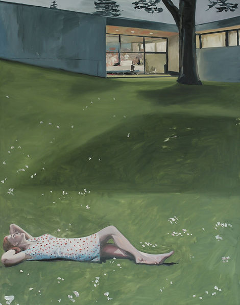 Markus Boesch - After a long day 110 cm x 140 cm Oil on Canvas