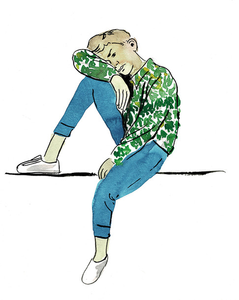 boy in green yellow shirt