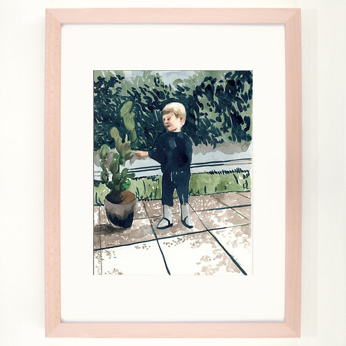Friendly cactus |  Digitaldruck 30 x 40 cm