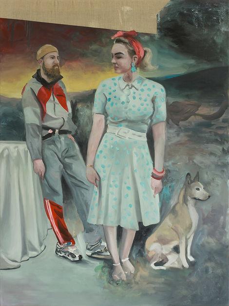 Markus Boesch - Only one has been faithful 120 cm x 90 cm Oil on Canvas