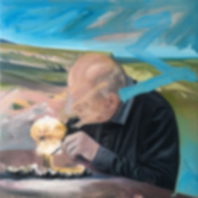 Markus Boesch - Project from an Old Man 80 cm x 80 cm Oil on Canvas