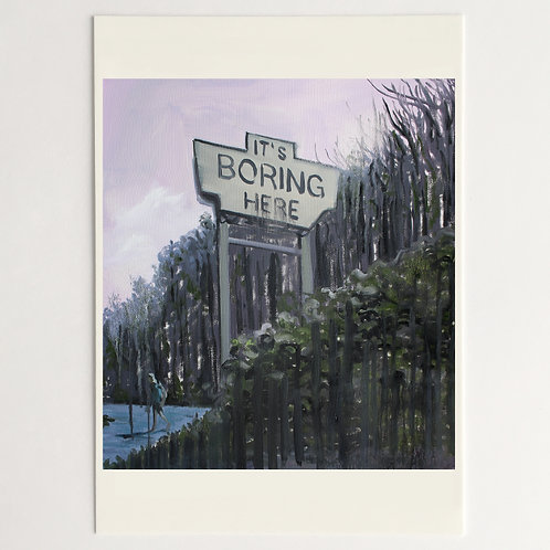 It`s boring here | Postcard