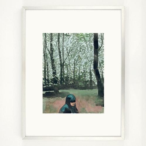 Rain in the forest | Digitaldruck 30 x 40 cm