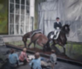 Markus Boesch - History Lesson 140 cm x 140 cm Oil on Canvas