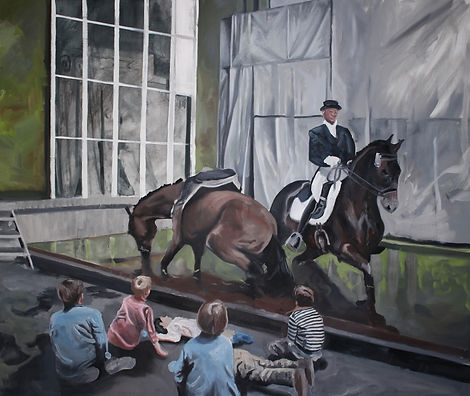 Markus Boesch - History Lesson 140 cm x 140 cm Oil on Canvas