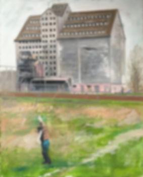 Markus Boesch - Bird at the long leash 55 cm x 44 cm Oil on Canvas