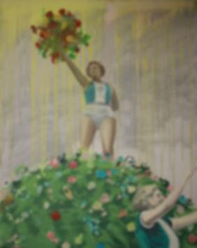 Die Sieger 130 cm x 100 cm Oil on Canvas