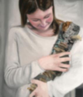 Markus Boesch - The Mother 62 cm x 53 cm Oil on Canvas