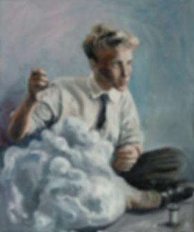 Der Wolkenmacher  - 60 cm x 50 cm Oil on Canvas