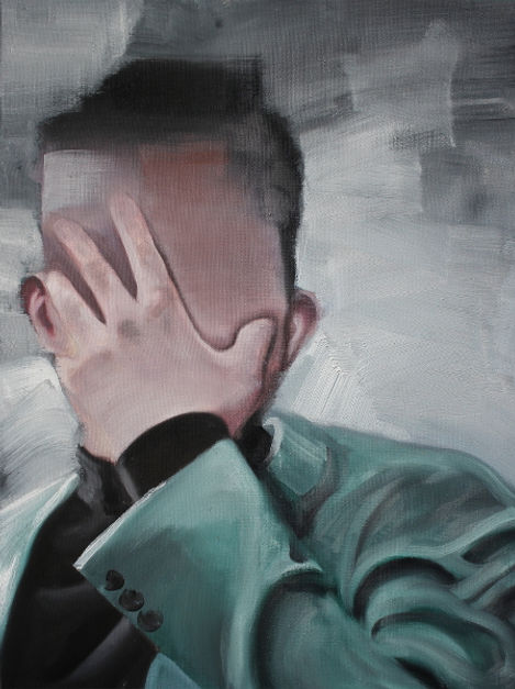 Markus Boesch / I am the thing behind myself - 41 cm x 55 cm Oil on Canvas