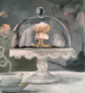Markus Boesch - Table firework under the Glass Dome 50 cm x 55 cm Oil on Canvas