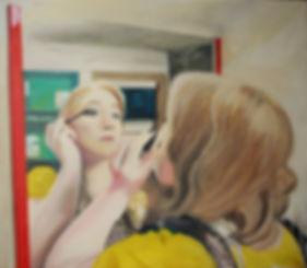 Markus Boesch - Painting myself 105 cm x 120 cm Oil on Canvas