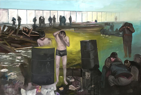 Markus Boesch / European Border - 120 cm x 180 cm Oil on Canvas