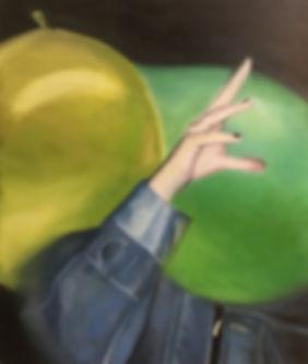 Markus Boesch - Hidden behind surface and pressure 55 cm x 65 cm Oil on Canvas