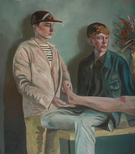 Markus Boesch / Leg - 120 cm x 105 cm Oil on Canvas