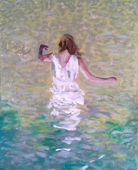 Markus Boesch - Under the surface less light 33 x 41 cm Oil on Canvas
