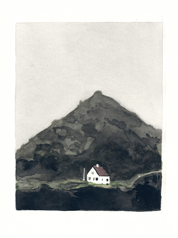 The mountain behind the house