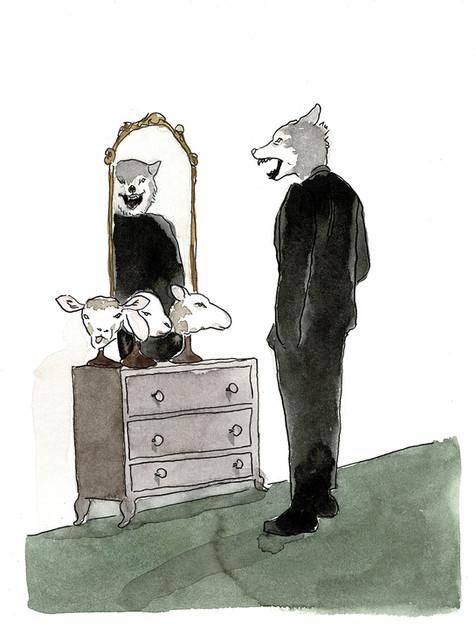 Wolf unter Schafen