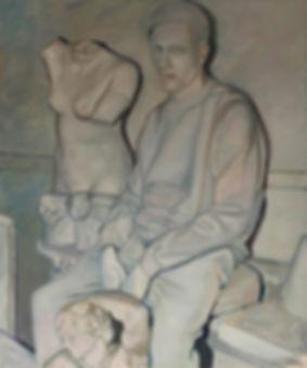 Marus Boesch / Part of the sculpture - 120 cm x 100 cm Oil on Canvas