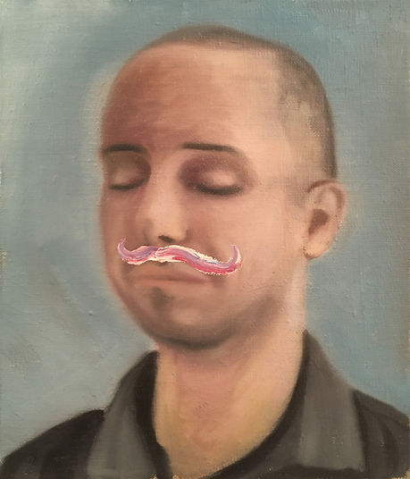 Markus Boesch - Sometimes you should seriously think - 27 cm x 32 cm Oil on Canvas