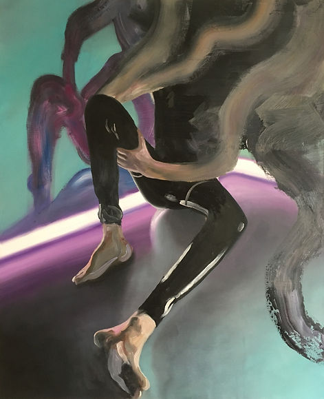 Markus Boesch / In the Corner - 80 cm x 100 cm Oil on Canvas