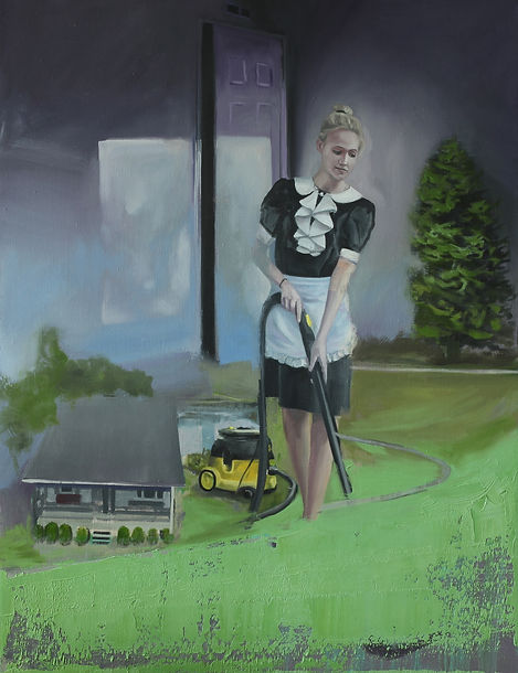 Markus Boesch - House at the Lake - 100 cm x 130 cm Oil on Canvas