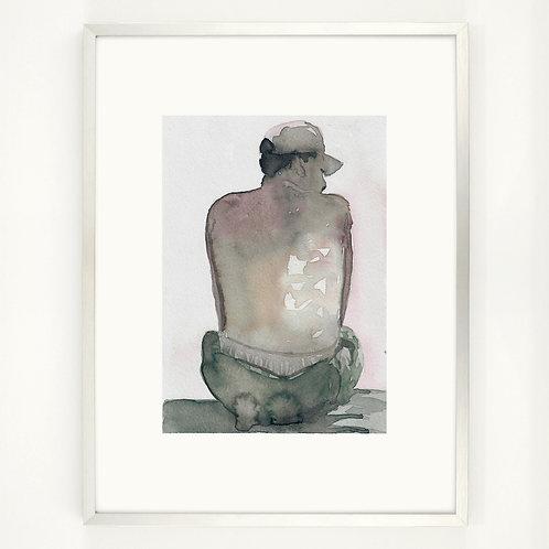 Sunbather   Digitaldruck 30 x 40 cm