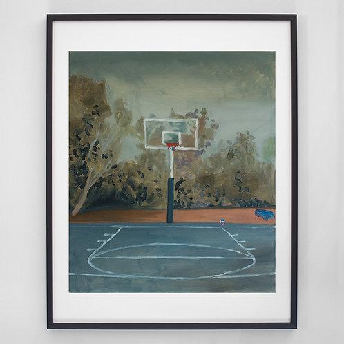 Basketball Court | Digitaldruck mit Rahmen