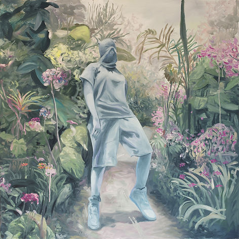 Markus Boesch / The garden - 120 cm x 120 cm Oil on Canvas