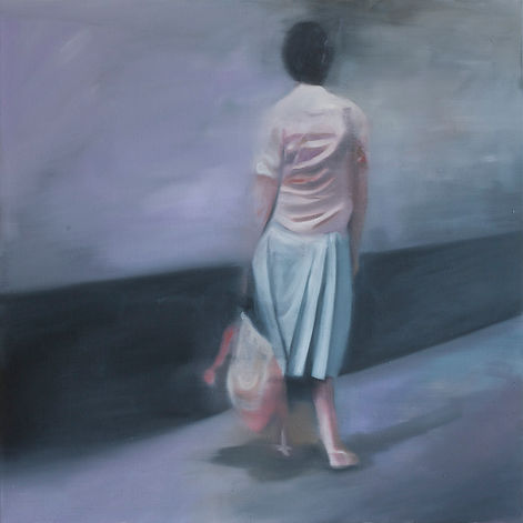 Markus Boesch / Waiting - 80 cm x 80 cm Oil on Canvas