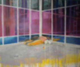 Markus Boesch - Mondrians berth 150 cm x 180 cm Oil on Canvas