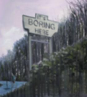 Markus Boesch / It's boring here - 50 cm x 55 cm Oil on Canvas