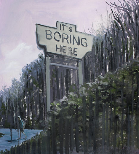 Markus Boesch / It's boring here - 50 cm x 55 cm Oil on Canvas