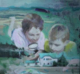 Markus Boesch - The Fire Raisers 120 cm x 130 cm Oil on Canvas