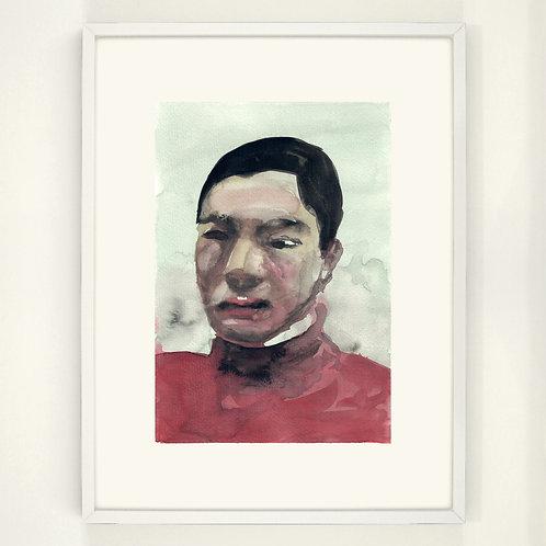 The Boy in the Red Sweater |  Digitaldruck 30 x 40 cm