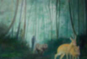 Markus Boesch - Wer hat Angst vor dem Naturzustand 110 cm x 160 cm Oil on Canvas
