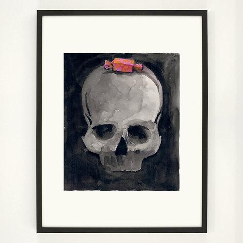 Candy skull |  Digitaldruck 30 x 40 cm