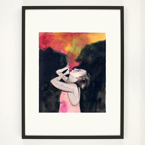 Fill up the air |  Digitaldruck 30 x 40 cm