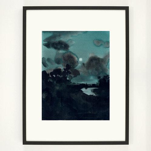 Night landscape |  Digitaldruck 30 x 40 cm