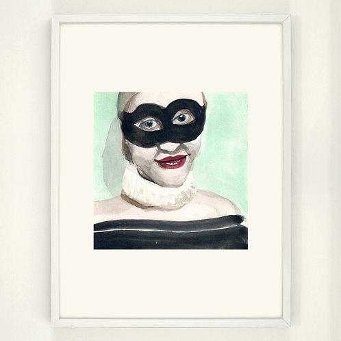 The mask I use often   Digitaldruck 30 x 40 cm