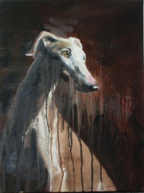 Markus Boesch - Portrait of myself as your dog 41 cm x 55 cm Oil on Canvas